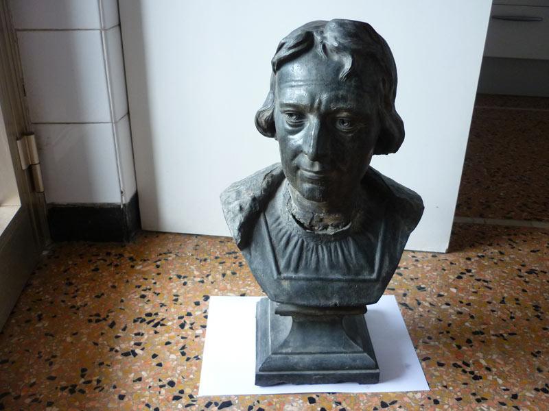 Busto in peltro di Cristoforo Colombo